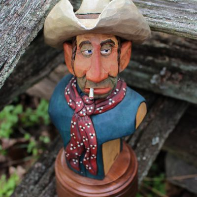 Cowboy with Cigarette Top View