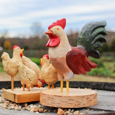 Rooster and Chicks